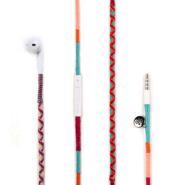 colorful Happynes branded Apple iPhone 6 Earphones | Marshmello - hippist.co.uk