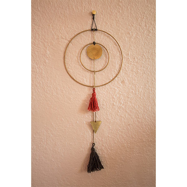 natural rope hand dyed hator wall hanging