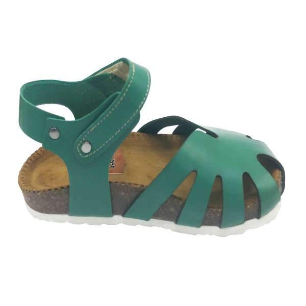 Helga Leather Sandals | Green
