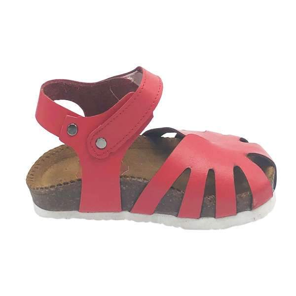Red colour baby-friendly sandals are lightweight, flexible