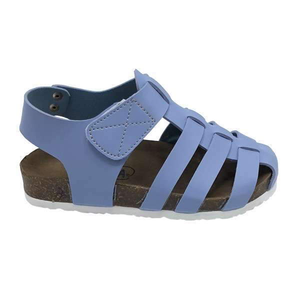 Blue colour baby-friendly sandals are lightweight, flexible