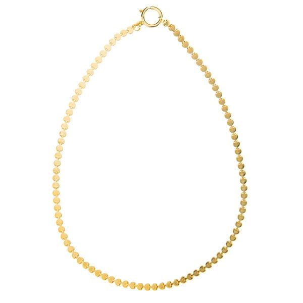 Gold plated bronze and metal necklace