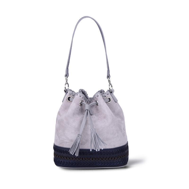 Bestie Bucket Bag | Grey Suede - hippist.co.uk