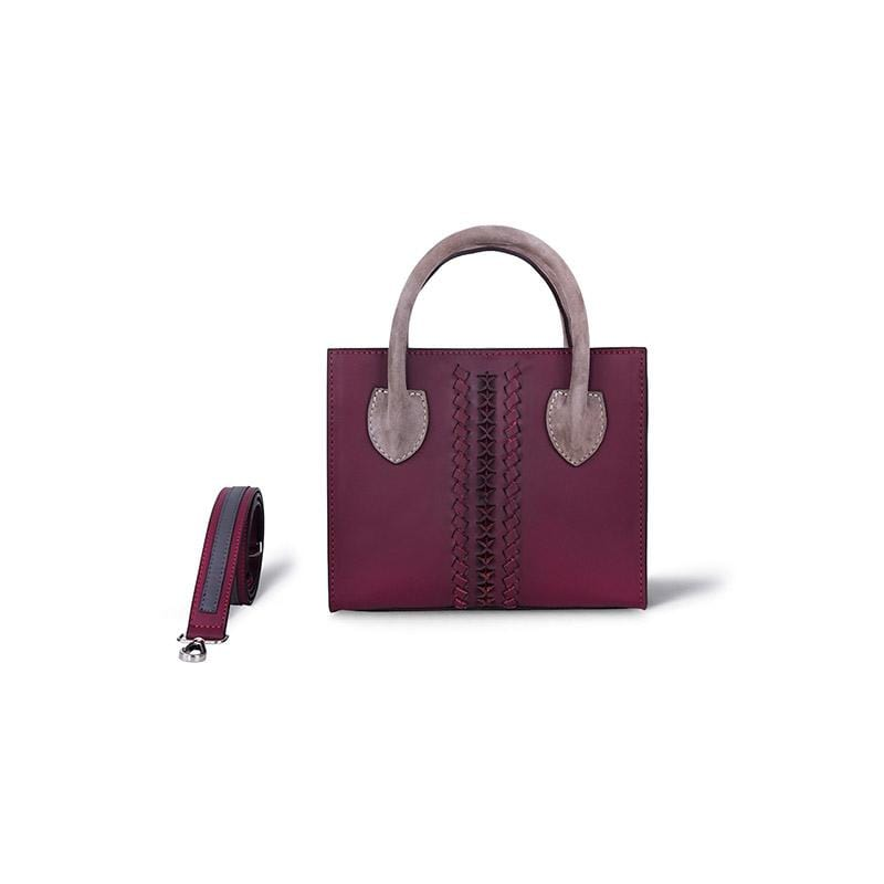 Renie Mini Tote | Burgundy Leather