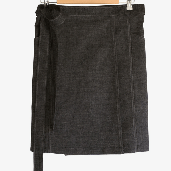 Black Denim Skirt - hippist.co.uk