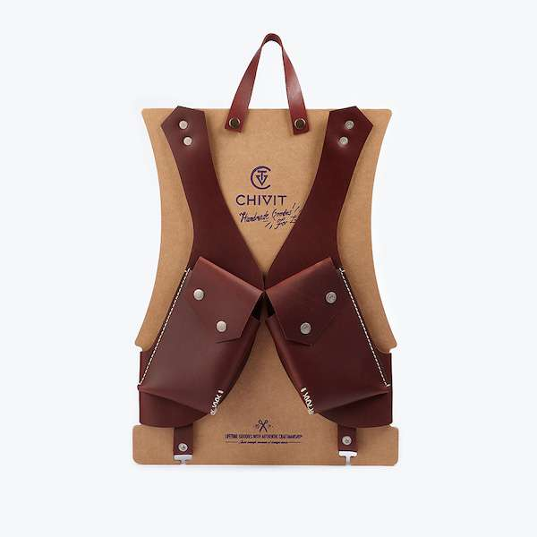red brown double holster