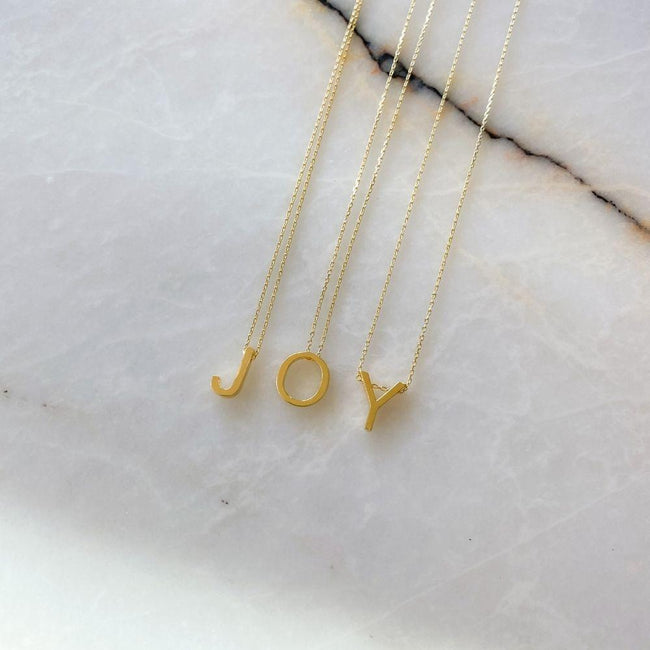 Alphabet Silver Chain Necklace | J