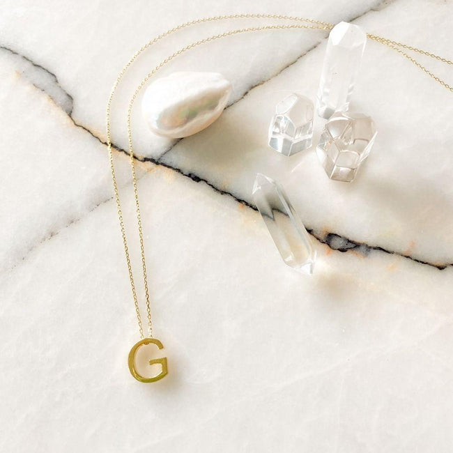 Alphabet Silver Chain Necklace | G