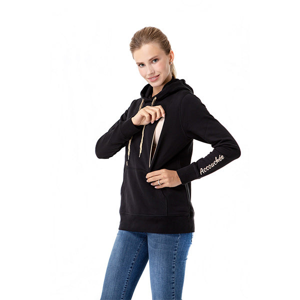 Iconic Nursing Sweatshirt | Black