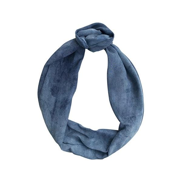 Darwin's botanicals branded indigo blue colour hand dyed silk headband at hippist