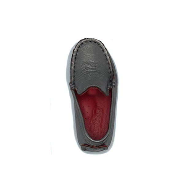 cf0936c5bd10 lil bugga branded handmade comfortable real leather silver colour loafer  shoes for boys between 18 and ...