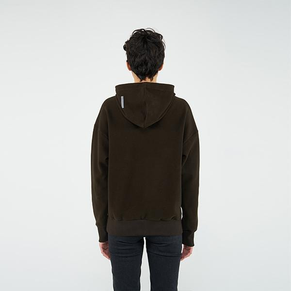 Reflect Studio Brown Colour Oversized Fit Basic Unisex Hoodie at hippist.co.uk