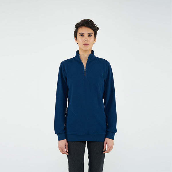 Reflect Studio Marine  Colour Classic Fit Basic Unisex with Quarter Zip at hippist.co.uk