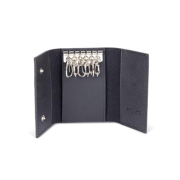 vegetable leather black key holder at hippist