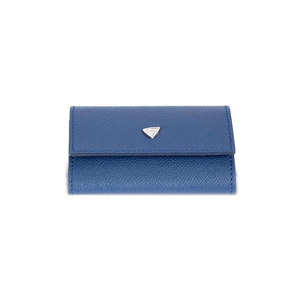 vegetable leather dark blue key holder at hippist
