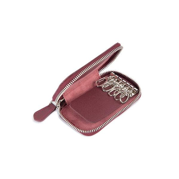 vegetable leather burgundy key holder at hippist