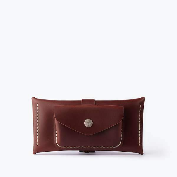 eyeglass case with extra pocket
