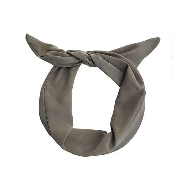 Darwin's botanicals branded khaki colour hand dyed silk headband at hippist