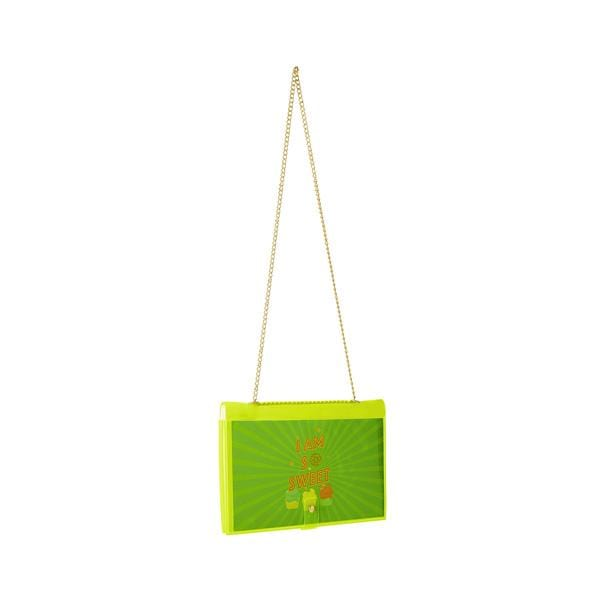 why note!? branded fun note bag series neon green notebook bag with kids cards