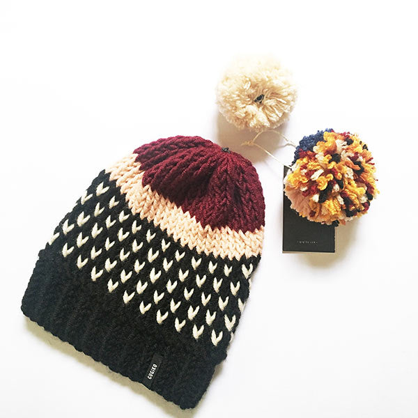 Knitted Wool Hat | Sundream | Black