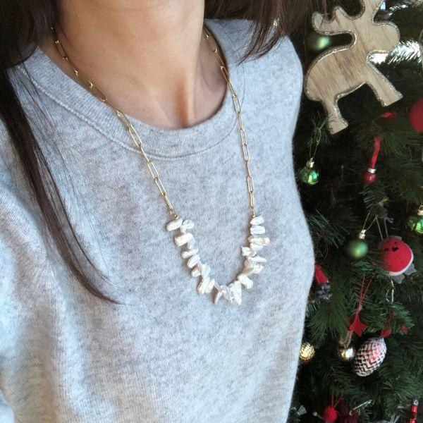 Lana Natural Pearl Chain Necklace