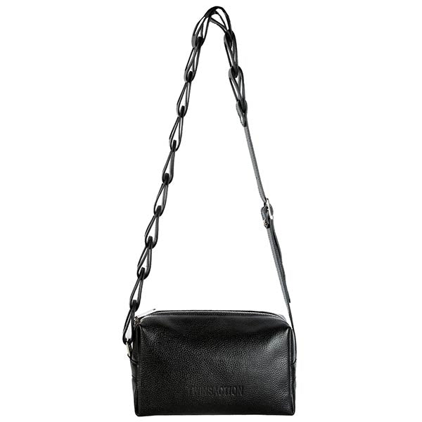 premium leather black colour shoulder bag
