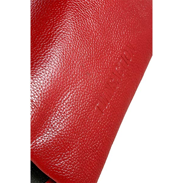 premium leather red colour shoulder bag