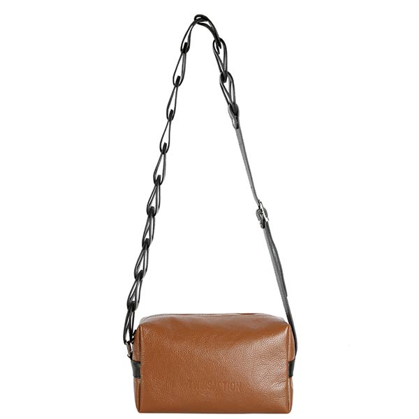 premium leather taba colour shoulder bag