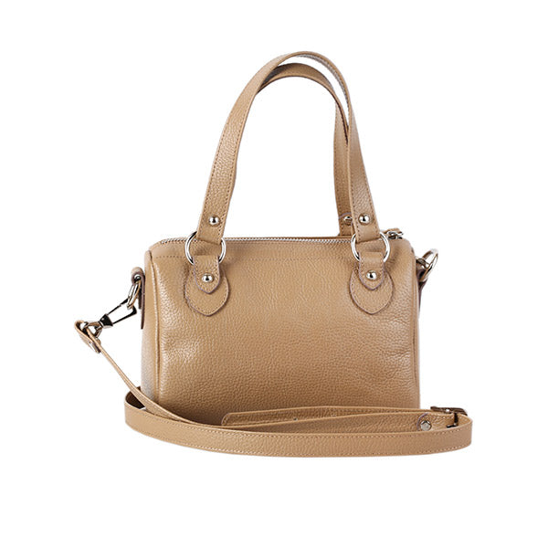 premium leather beige colour shoulder bag at hippist