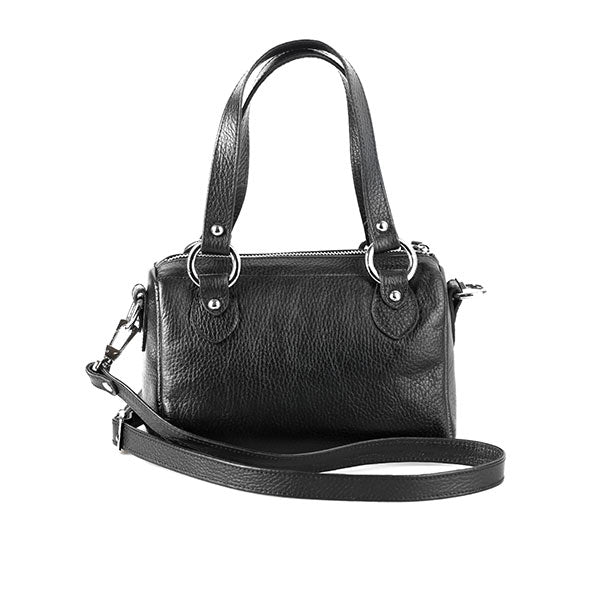 premium leather black colour shoulder bag at hippist