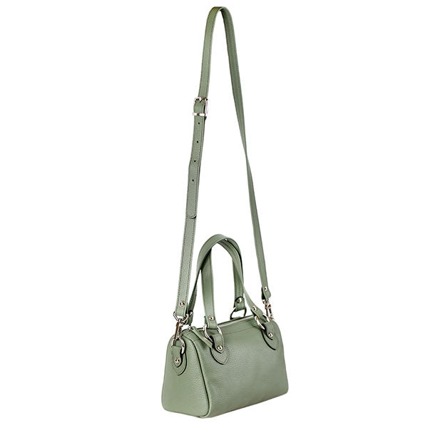 premium leather green colour shoulder bag at hippist