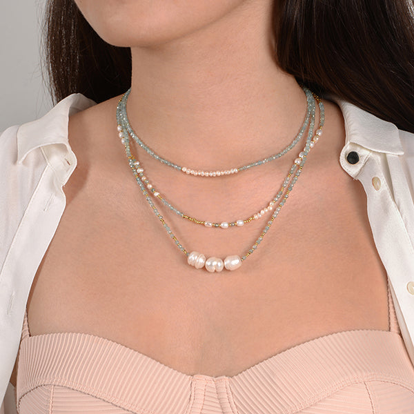livia zoey bonnie natural stone necklace
