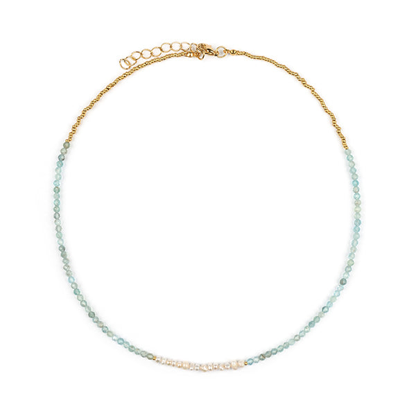 Livia Natural Pearl & Apatite Necklace