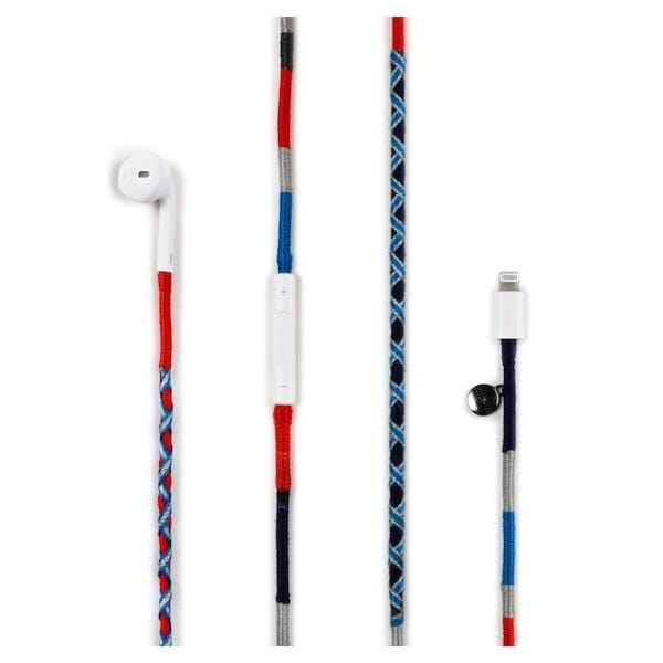 colourful handmade happy-nes branded earphones