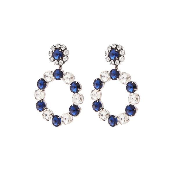 Loulou Crystal Earrings | Sapphire
