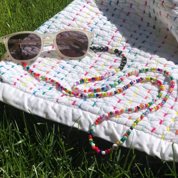 35 inch colourful beaded fashion lanyard trendy eyeglass holder