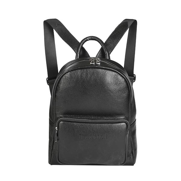 premium leather black colour backpack at hippist
