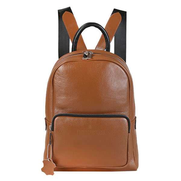 premium leather taupe colour backpack at hippist