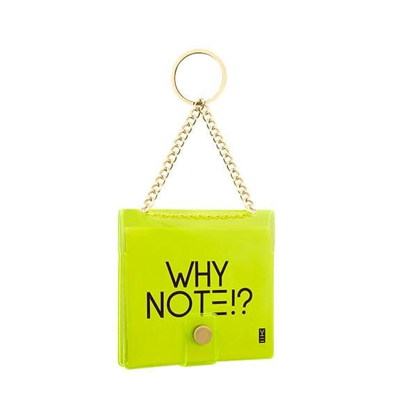 why note!? branded neon green key chain at hippist.co.uk