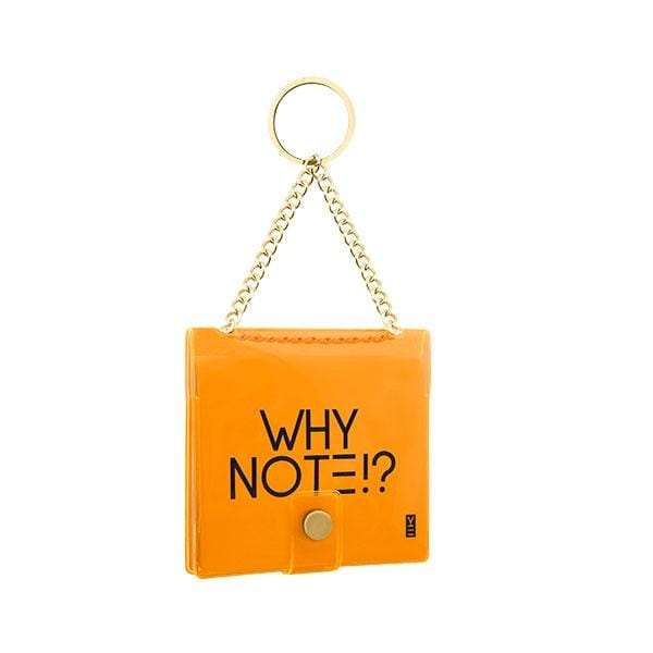 why note!? branded neon orange key chain at hippist.co.uk
