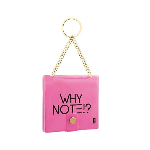 why note!? branded neon pink key chain at hippist.co.uk