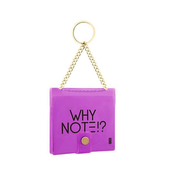 why note!? branded purple key chain