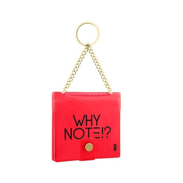 why note!? branded neon red key chain at hippist.co.uk