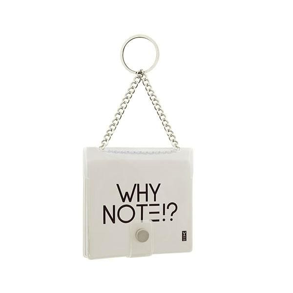 why note!? branded transparent key chain at hippist.co.uk