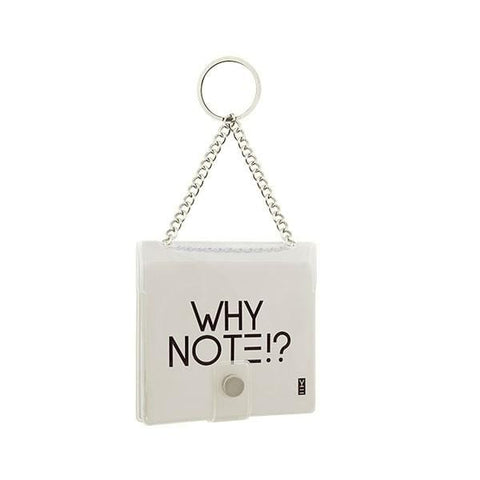 Why Note!? Fun Note Bag | Transparent | Unicorn