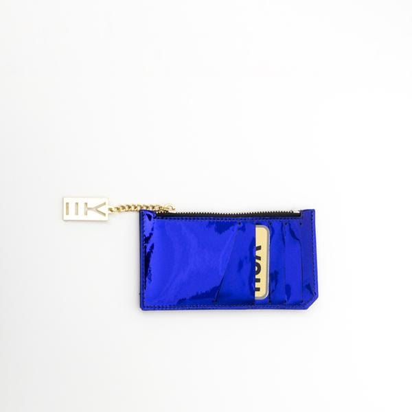 Why Note!? Blue Mirror Mini Wallet with Card Pockets at hippist.co.uk