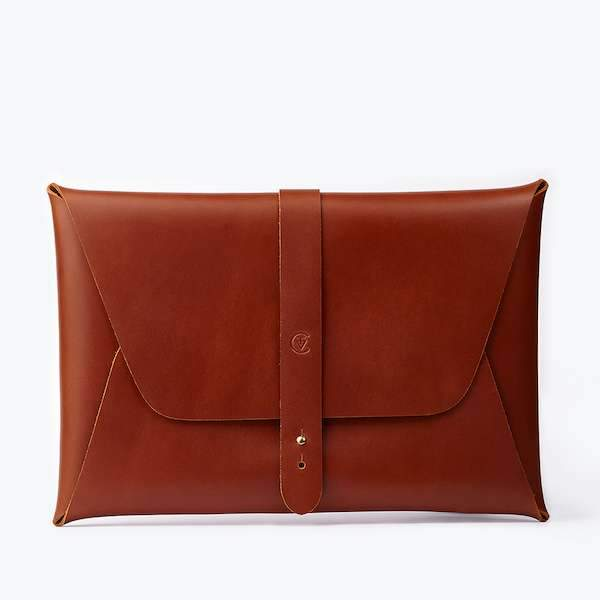 MacBook 12'' Clutch | Cognac