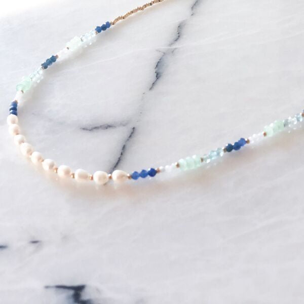 Marianne Natural Pearl & Natural Stone Necklace