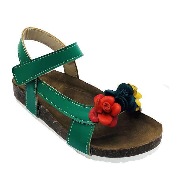 Green colour baby-friendly sandals are lightweight, flexible