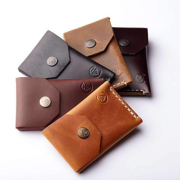5 different colour micro wallets